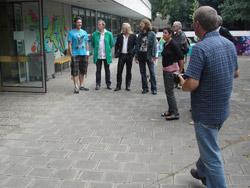 v.l.n.r.: Zeug, Jahn, Bartsch, Hillesheim, S. Schneider, Neupert, Presse