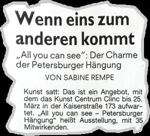 Presse Petersburger Hängung
