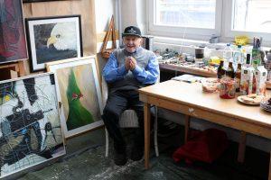 David Krugmann im Atelier